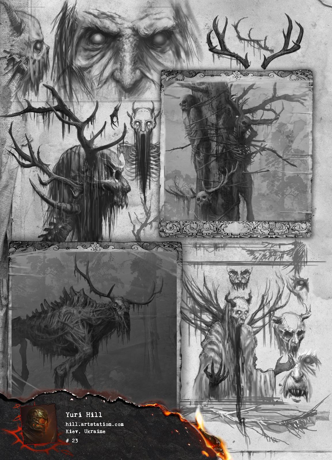 Превью страниц артбука «EVILBOOK 2» от Yuri Hill