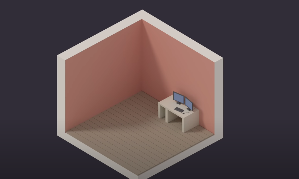 1 этап создания изометрической комнаты