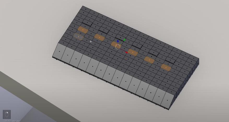 Создаем кнопки инструментами Loop Cut и Extrusion