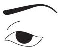 Круглая форма глаза