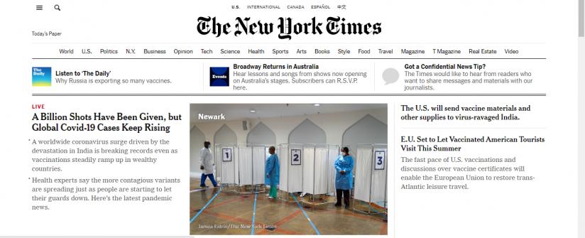 Журнал The New York Times