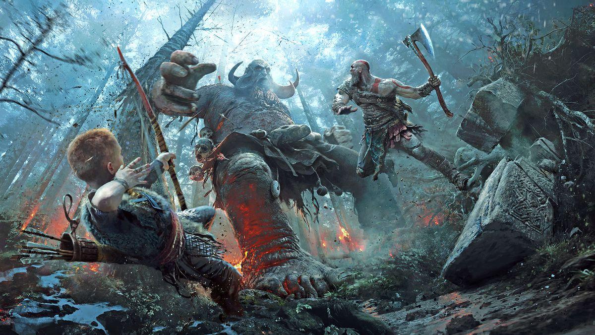 Кадр из игры «God of War».