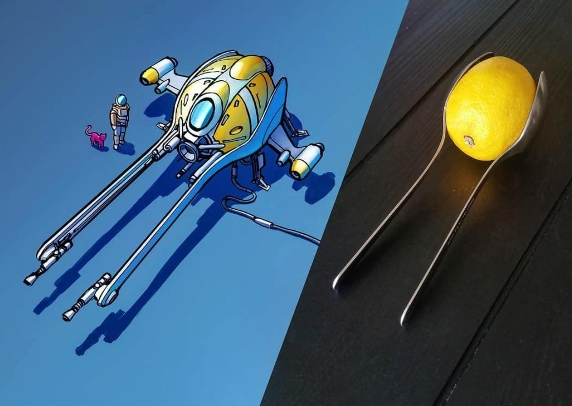 Обычные объекты превращают в космические корабли