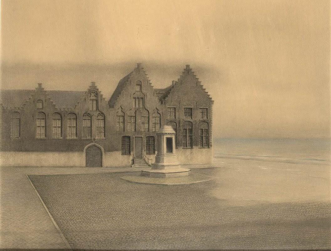 Картина бельгийского художника-символиста Фернана Кнопфа «Заброшенный город», 1904 г