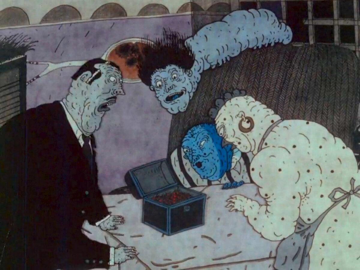 Кадр из мультфильма «Его жена — курица» (1989)