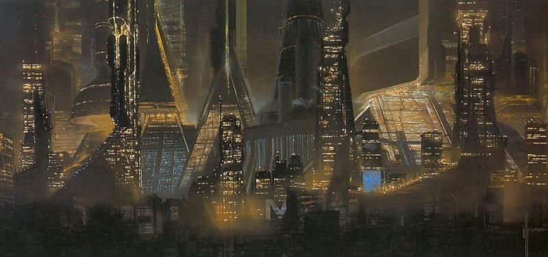 Концепт-арт архитектуры и общего плана города