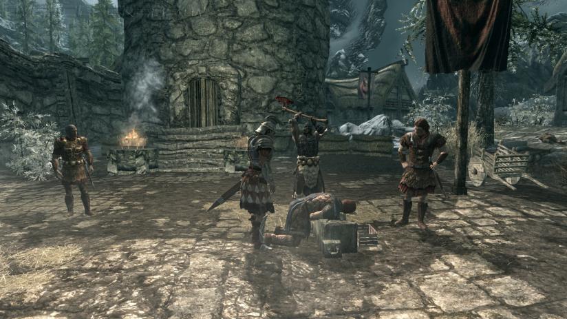 Стартовая сцена Skyrim