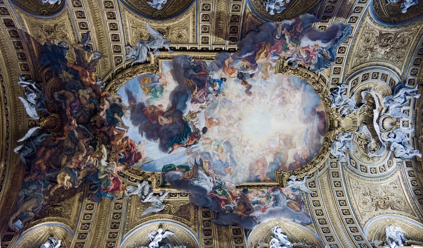 Джованни Баттиста Гаулли, «Триумф имени Иисуса» (1672-1685). Церковь Иль-Джезу, Рим. Источник: visualmotley.blogspot.com