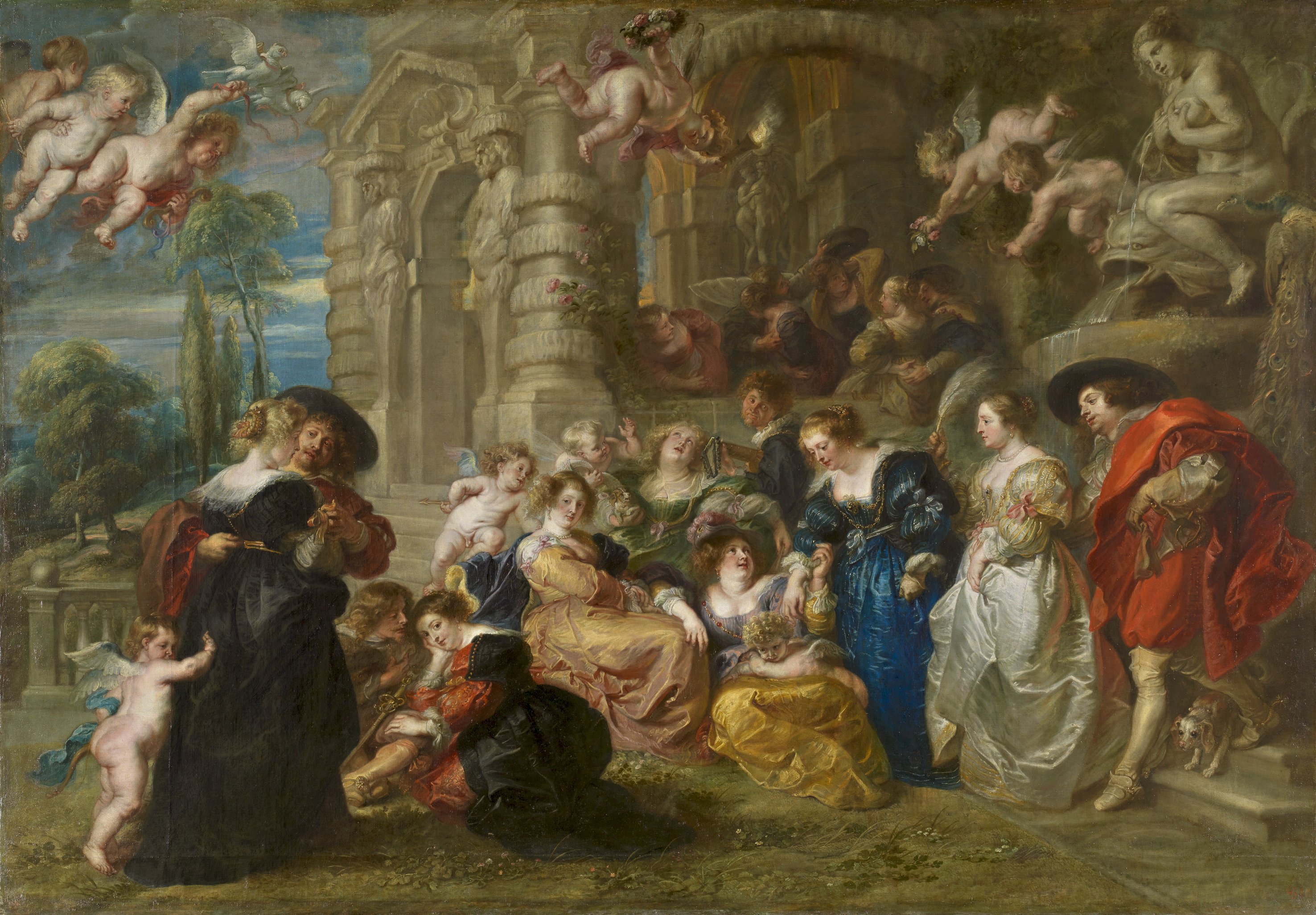 Питер Пауль Рубенс, «Сад Любви» (1630-1631). Источник: www.dailyartmagazine.com