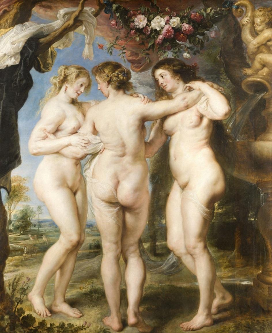 Питер Пауль Рубенс, «Три грации» (1639). Источник: veryimportantlot.com