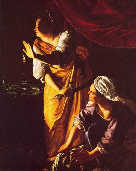 Артемизия Джентилески, «Юдифь со служанкой» (1625). Источник: artguide.com