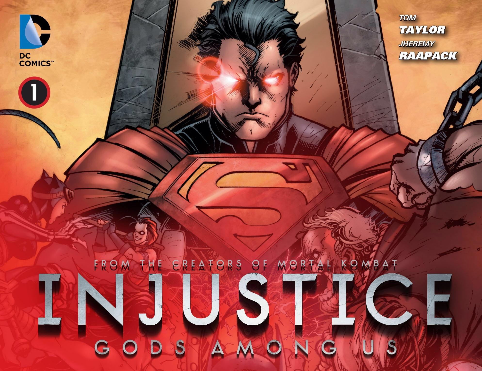Обложка первого номера «Несправедливости». Источник: сайт unicomics.ru
