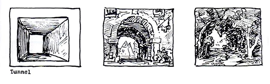 Вид композиции «Тоннель». Источник: muddycolors