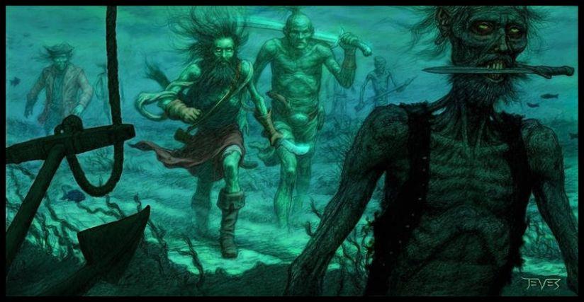 Концепты к фильму «Пираты Карибского моря: Проклятие Черной жемчужины». Источник: 66sean99.livejournal.com