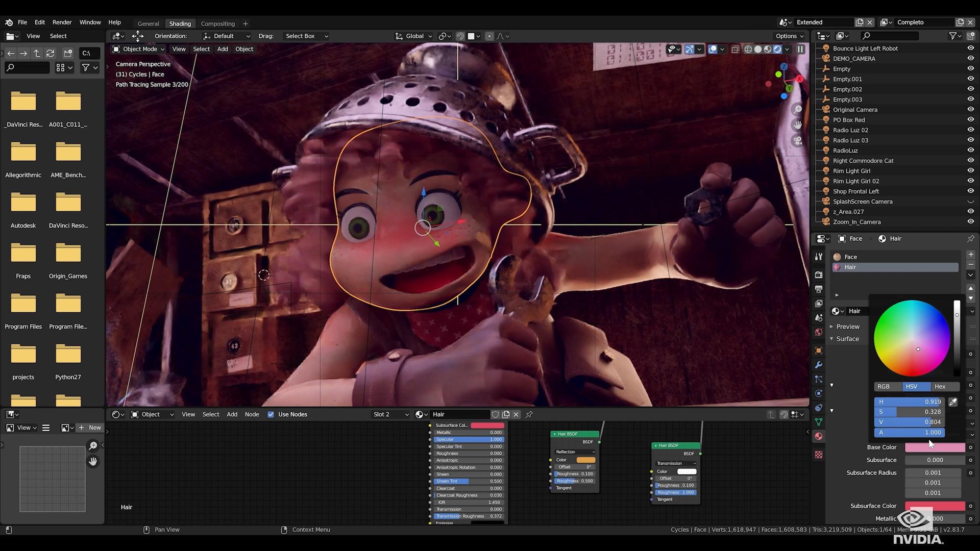Скриншот из Blender. Источник: Nvidia