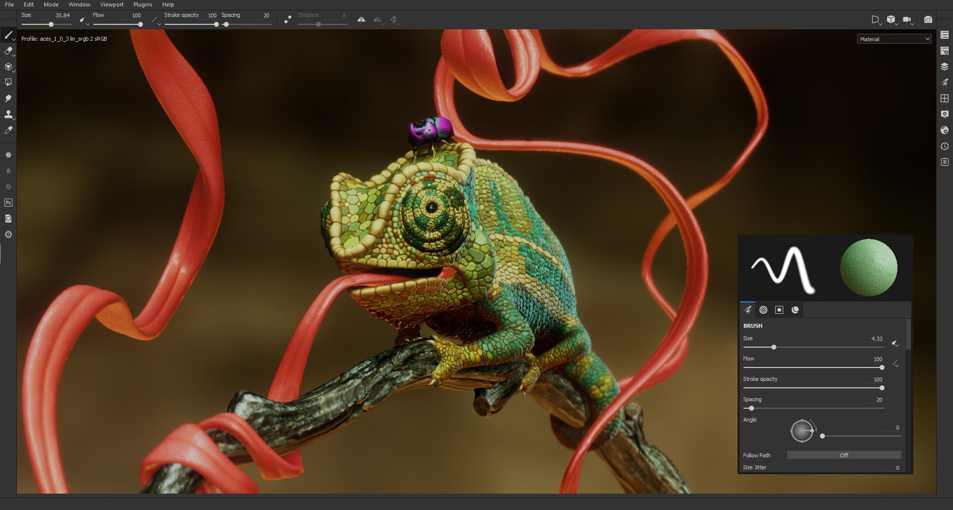 Скриншот из Substance Painter. Источник: 3Darchitettura.com