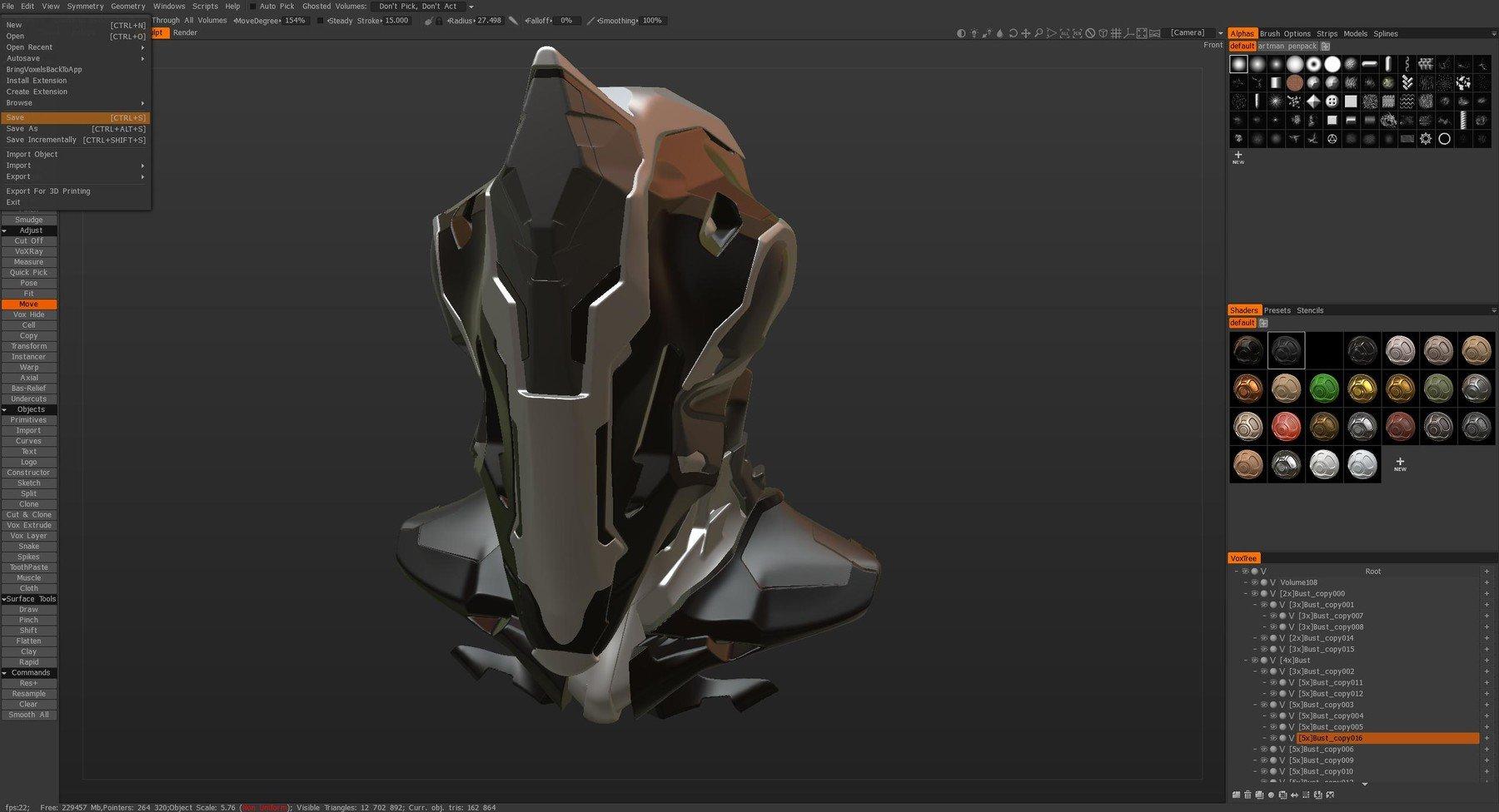 Скриншот из 3D-Coat. Источник:Anthony Jones