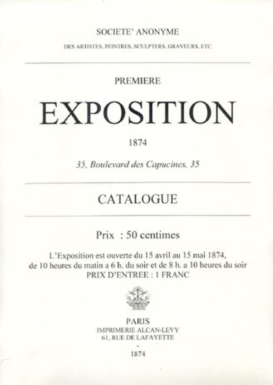 Брошура выставки. Источник: impressionistarts.com