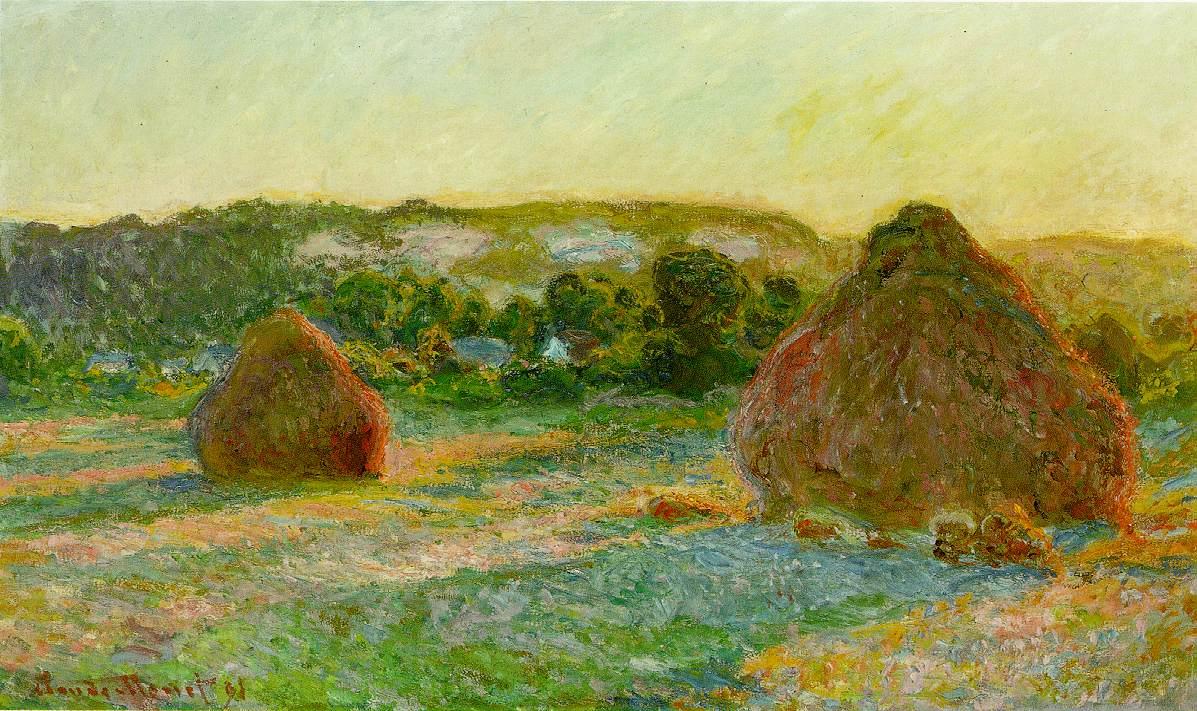Клод Моне «Пшеничные стога (конец лета)», 1891. Источник: impressionism.su