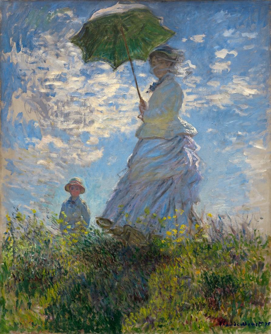 Клод Моне «Прогулка», 1875. Источник: muzei-mira.com