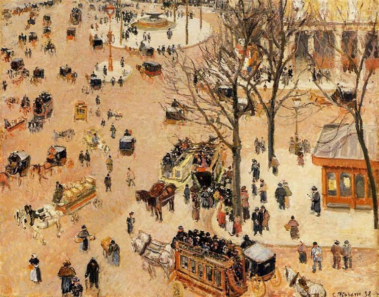 Камиль Писсарро «Французская театральная площадь», 1898. Источник: www.wikiart.org