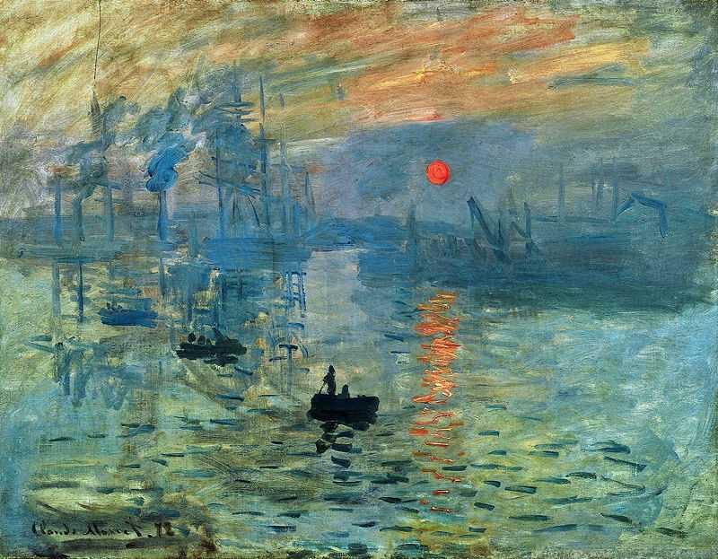 Клода Моне «Впечатление, восход солнца», 1873. Источник: impressionistarts.com