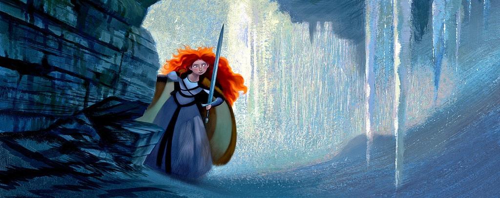 2. Концепт Brave от Pixar. Цветовой акцент на волосах. Источник: www.nytimes.com