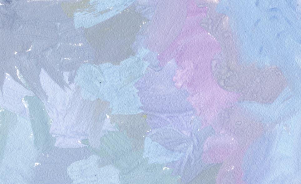 Благодаря оптическому смешению мазки серо-голубого, серо-розового и серо-желтого цветов образуют серо-фиолетовый цвет. Источник: zaholstom.ru