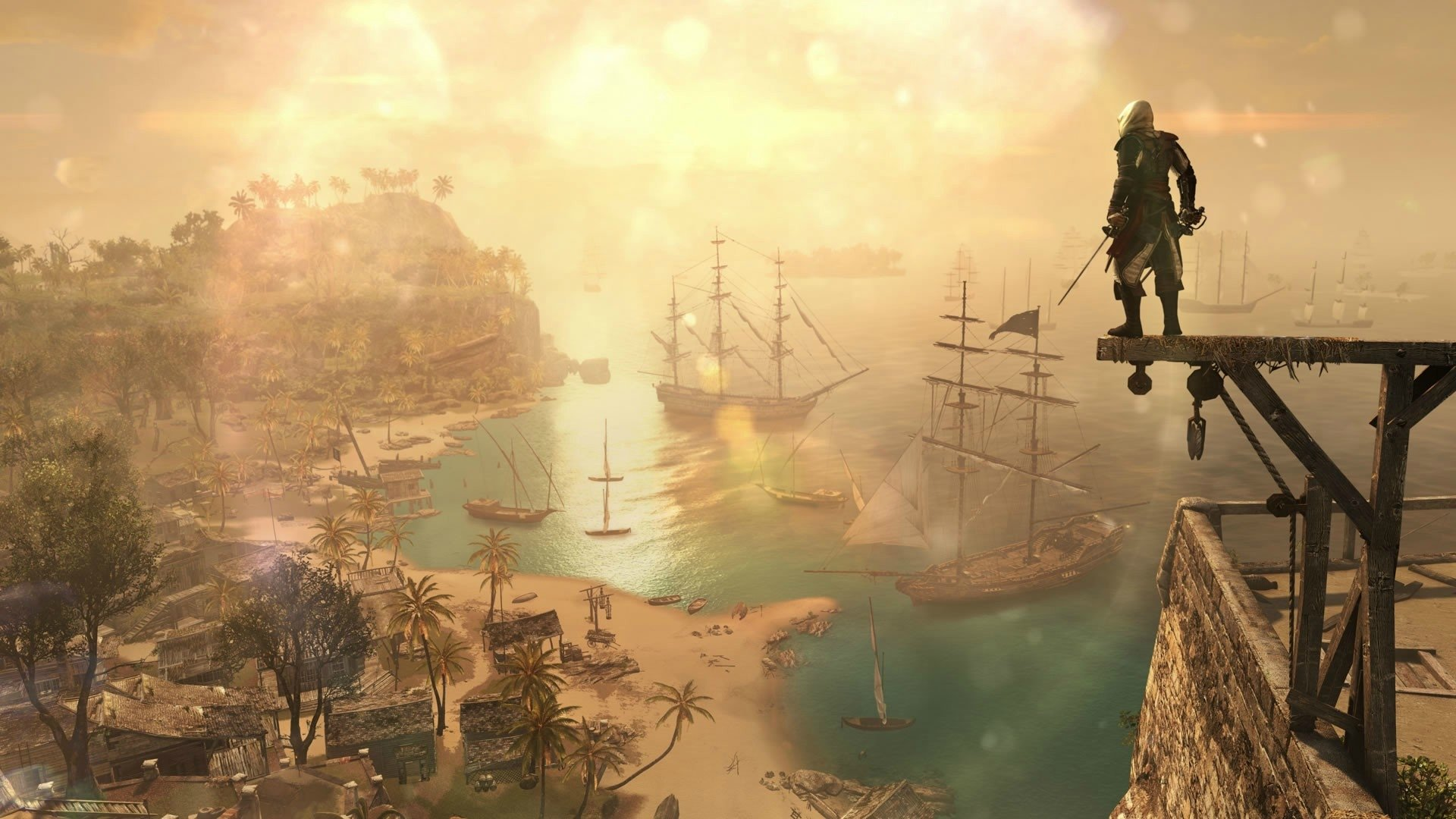 Кадр из Assassin's Creed IV. Источник: wall.alphacoders.com