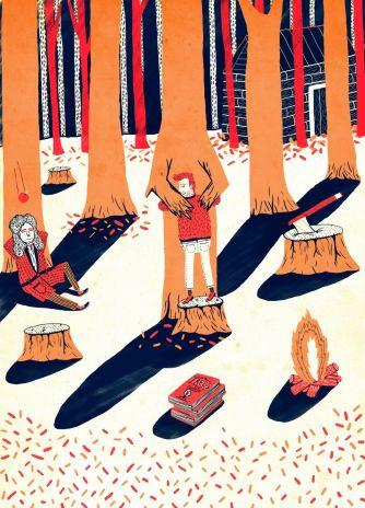 Картина Патрика Олерири «Tree-Hugging»