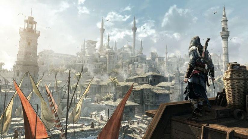 Сцены из серии игр Assassin's Creed.